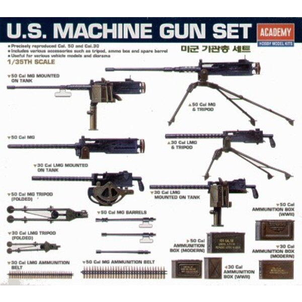 US WWII Machine Gun Set