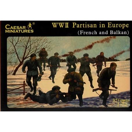 Partisans européens de la 2ème GM. France/Balkans