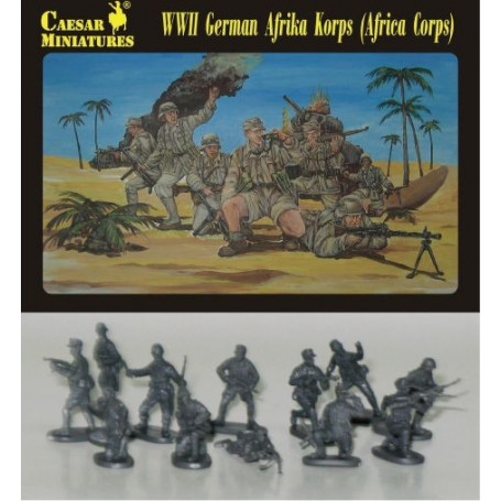 32 Figurines INFANTERIE AFRIKA KORPS CAESAR Miniatures N° 070