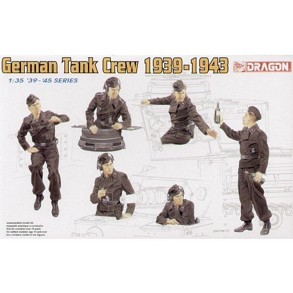 Équipage de char allemand 1939-1943 x 6 figurines