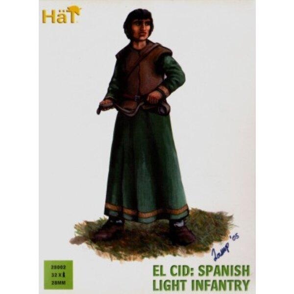 El Cid : Infanterie légère espagnole - 36 figurines en plastique dur