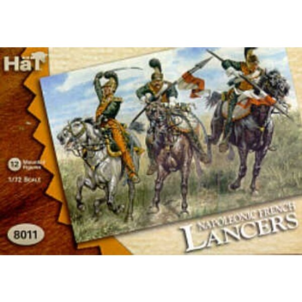 Napoleonic French Light Lancers. 12 mounted figures. REVISED!