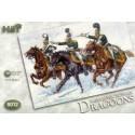 Dragons russes napoléoniens. 12 figurines montées. Premier style de casque.