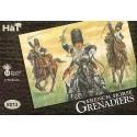 Grenadiers à cheval français napoléoniens. 12 figurines montées avec peaux d'ours. HAT Industrie HAT8013
