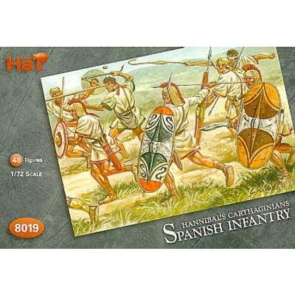 Infanterie espagnole carthaginoise. 48 figurines : 24 Scutari 12 Caetrati 12 frondeurs Baeleric