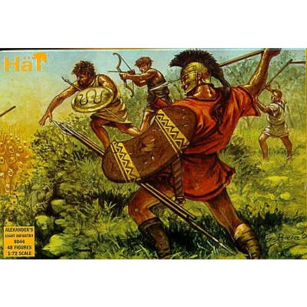 Infanterie légère d'Alexandre : 48 figurines.