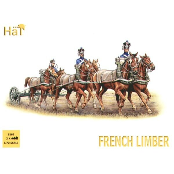 French 6 Horse Limber Team