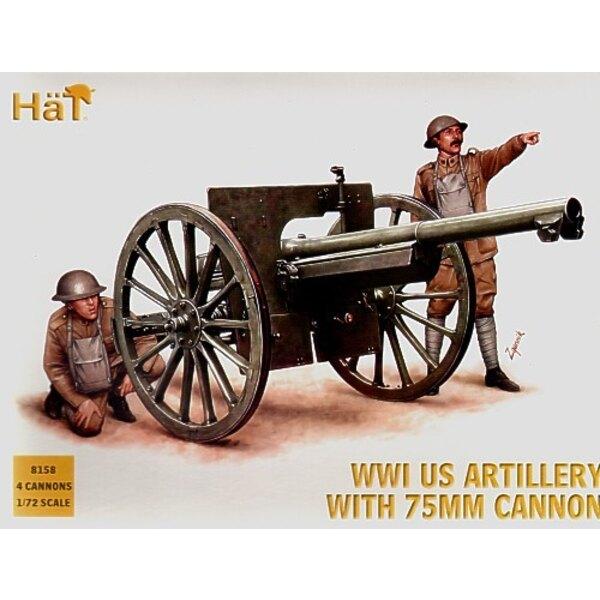 Artillerie US 1ère GM - 4 par boîte