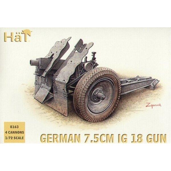 Canon d'infanterie allemand de 75 mm IG18 de la 2ème GM