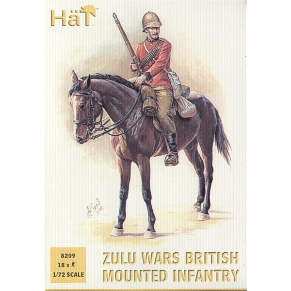 Guerres zoulous. Infanterie montée britannique