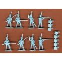 Chasseurs français en poses d'action. 32 figurines par boîte HAT Industrie HAT8251