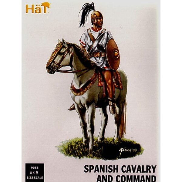 Punic War Spanish Cavalry and Command x 8 mounted figures per box