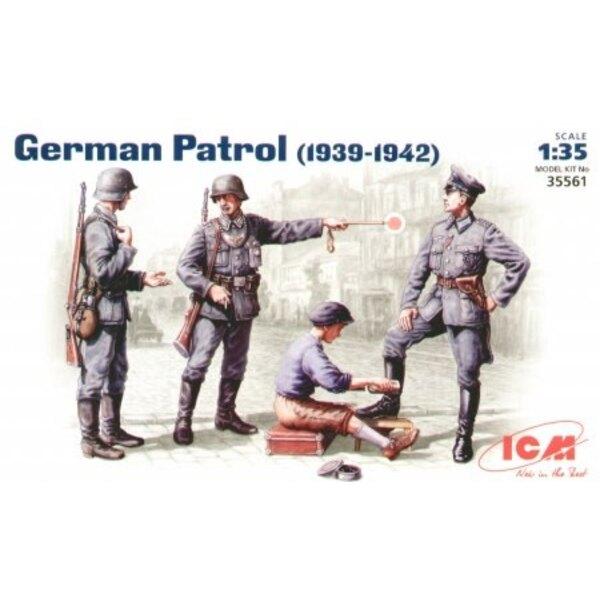 Patrouille allemande (1939-42) - jeu de 4 figurines