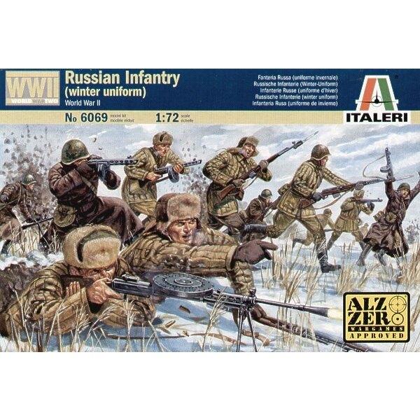 Infanterie russe de la 2ème GM en uniforme d'hiver