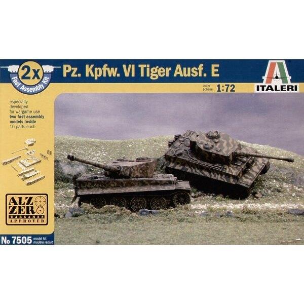 Pz.Kpfw.VI Tiger I Ausf.E le pack inclut 2 maquettes de char à clipser (snap together) - spécial wargame