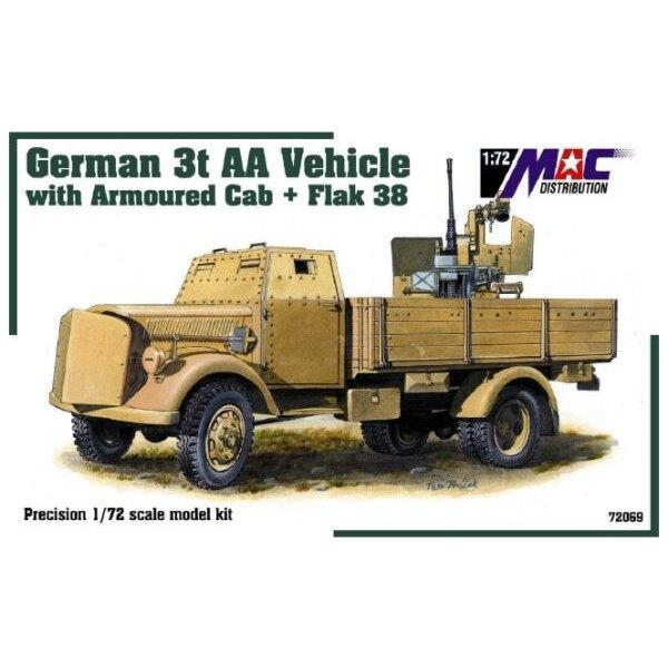 Camion de 3t à cabine blindée avec Flak 38