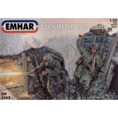 Infanterie allemande de 1ère GM et équipage de char