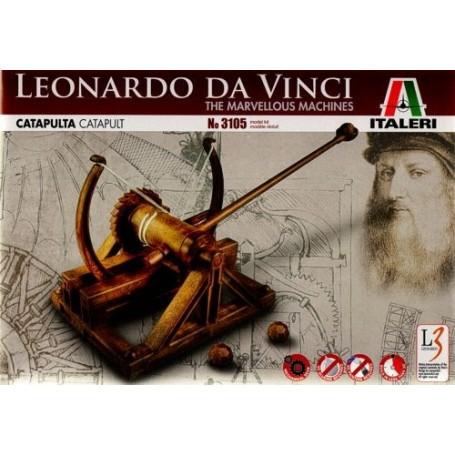 Catapulte de Leonardo Da Vinci les Machines Merveilleuses Italeri IT3105