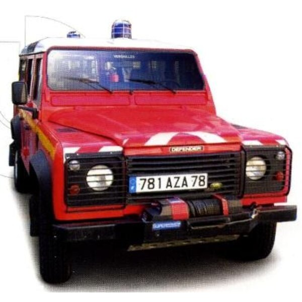 Land Rover Defender firefighters