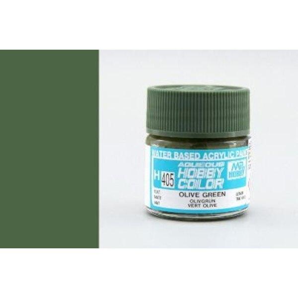 H405 Vert olive mat
