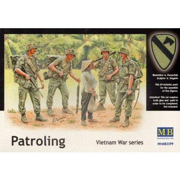 En patrouille - guerre du Vietnam