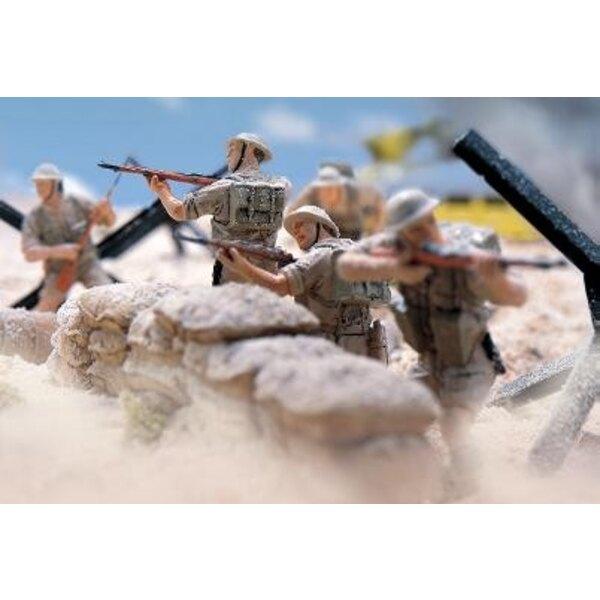 5 figurines britanniques 7ème division alamein 1/32