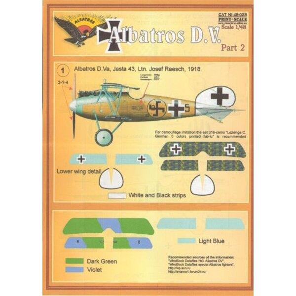Décal Albatros D.V. Part 2