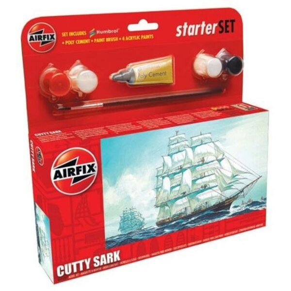 Cutty Sark Starter Set. Includes 4 acrylic paints, paint brush and poly cement.