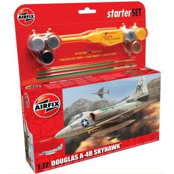 Douglas A-4B Skyhawk Set pour débutant comprenant la peinture acrylique, le pinceau et la colle