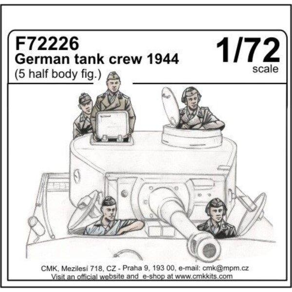 German 1944 tank crew x 5 upper torso only figures