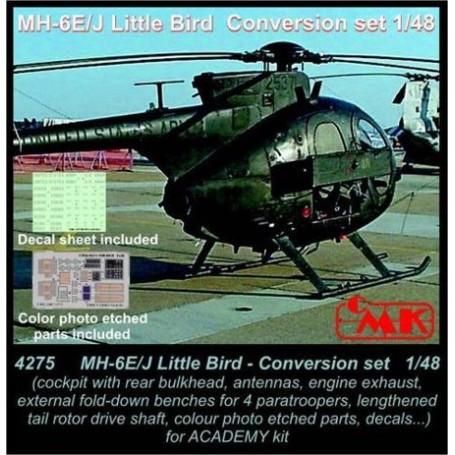 MH-6E/MH-6J Little Bird Conversion set (conçu pour les maquettes Academy) USA, moderne