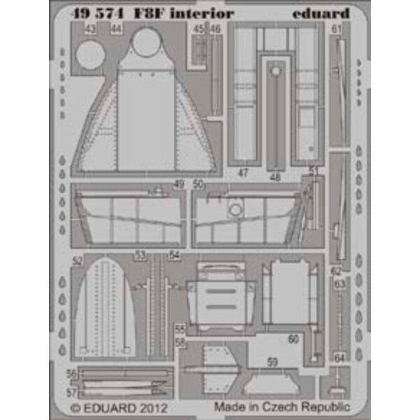 Grumman F8F Bearcat intérieur (auto adhésif) (conçu pour les maquettes Hobby Boss)