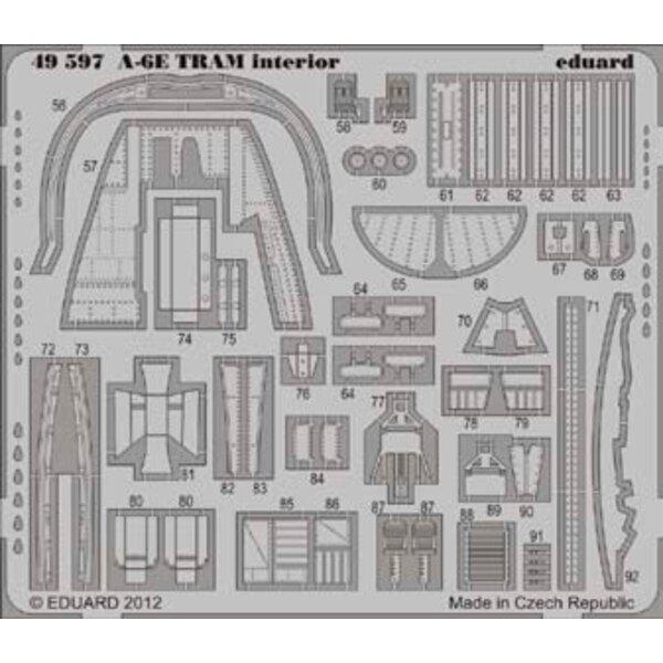 Grumman A-6E 'TRAM' Intruder intérieur (auto adhésif) (conçu pour les maquettes Kinetic)