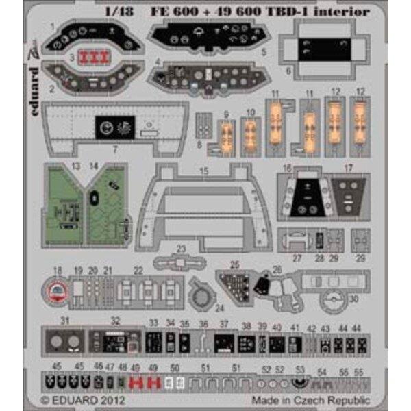 Douglas TBD-1 Devastator intérieur (auto adhésif) (conçu pour les maquettes Great Wall Hobby)
