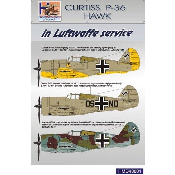 Décal Curtiss P-36 Hawk. Luftwaffe
