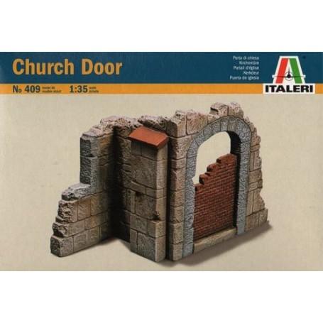 Porte d'église et wall section