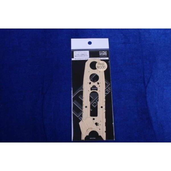Yamato pont en bois (conçu pour les maquettes Tamiya)
