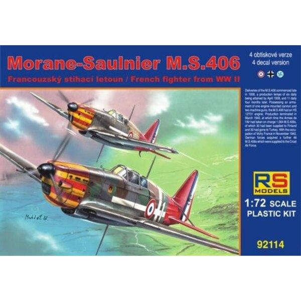 Morane-Saulnier MS.406 4 variantes de décals pour Vichy, Luftwaffe, Finlande
