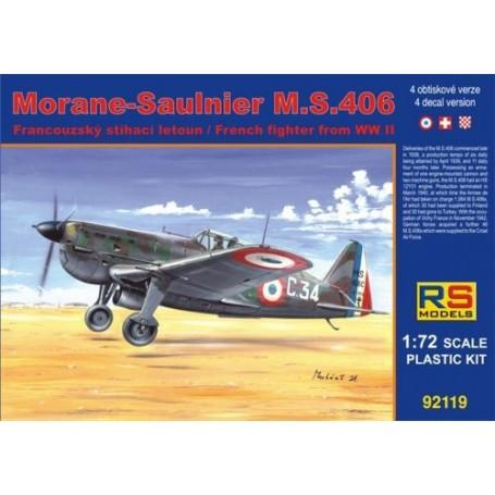 Morane-Saulnier MS.406 France Navy New 2/2012 4 variantes de décals pour France, Suisse, Croatie