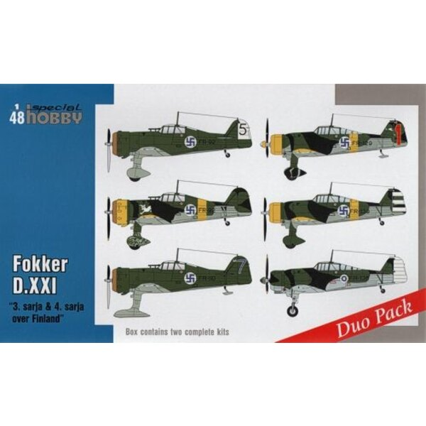 "Fokker D.XXI Duo Pack ""3.sarja & 4.sarja over Finlande"" Seven Fokkers D.XXI were delivered to Finlande in 1937. Three years late"