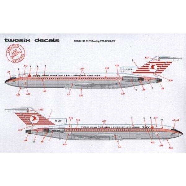 Boeing 727-200 THY TURKISH AIRLINES TC-JBF/G/H/I/J/M, TC-JCA/B/D/E