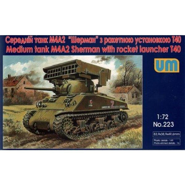 Sherman M4A2 avec T40 lance roquettes