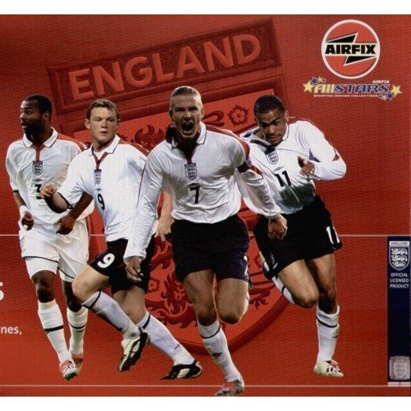 1:8 (approx) Set de footballeurs Airfix #1 Ashley Cole, Wayne Rooney, David Beckham, Kieron Dyer. Inclut paint, glue et brushes.
