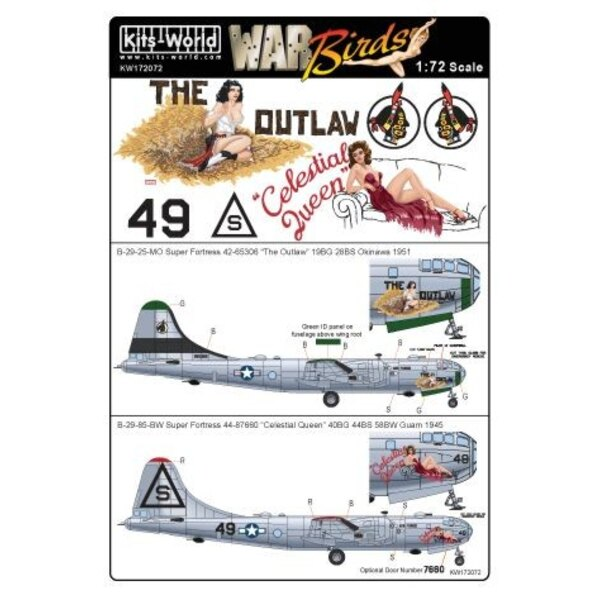 Boeing B-29-25-MO Super Fortress 42-65306 'The Outlaw'? 19BG 28BS Okinawa 1951 - B-29-85-BW 44-87660 â?oeCelestial Queen&a