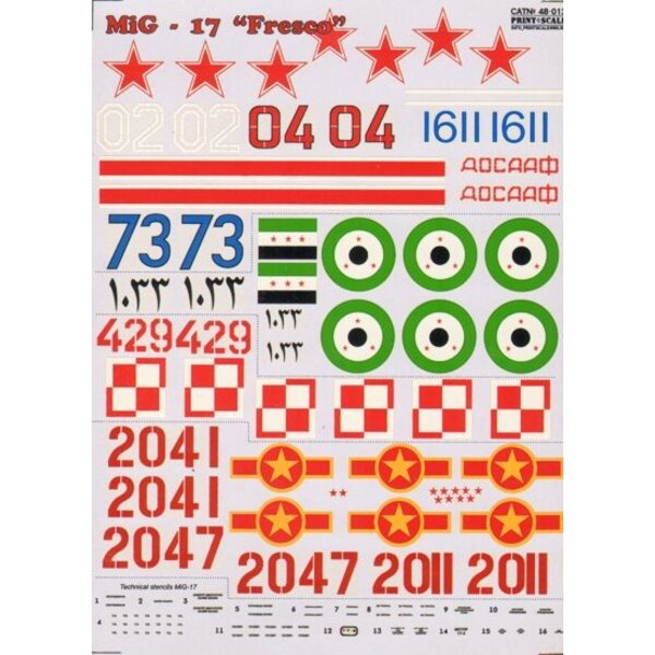 Mikoyan MiG-17 Fresco Part 1 (8) Russe White 02 Kiev 1970; Blue 1611 Czechoslovakia 1968; Red 04 146th Guard Air Regt 1957; Red