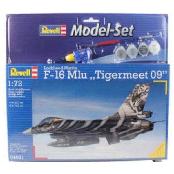F16 Mlu Tigermeet 08 Model Set - coffret contenant la maquette, les peintures, pinceau et colle