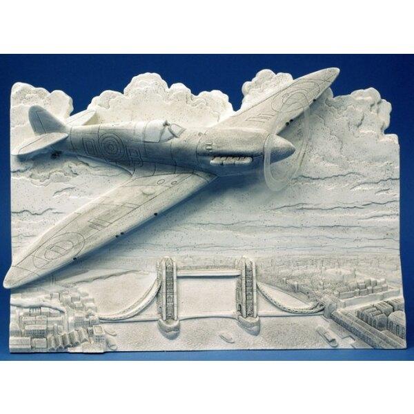 Spitfire bas-relief