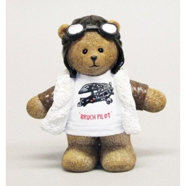 Pilot Bear Statue - Polyresin (4pcs)