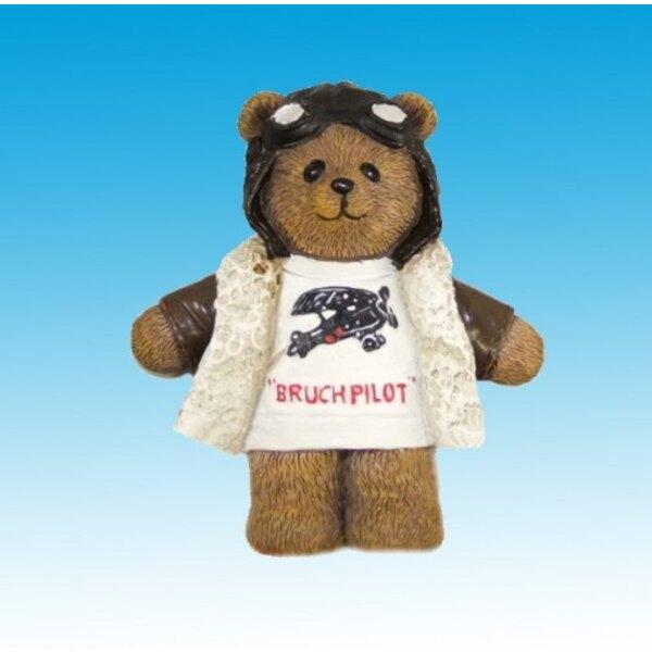 Pilot Bear Magnet - Polyresin (12pcs)