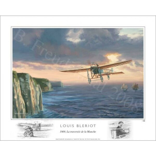 FB - 1909, Louis Bleriot crossing the English Channel